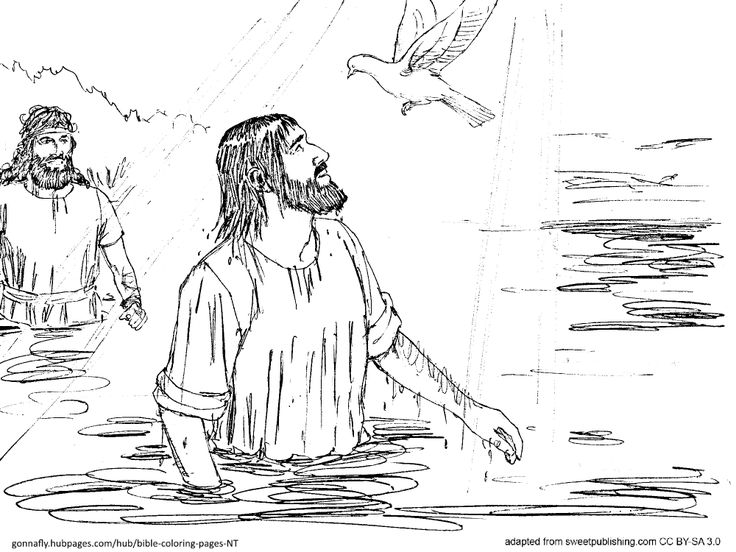 water baptism coloring pages