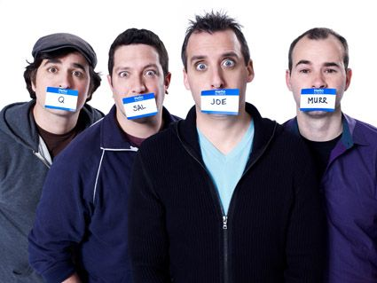 Q, Sal, Joe & Murr - the cast of Impractical Jokers. I thinks these guys are hysterical and that makes them all HOT!!