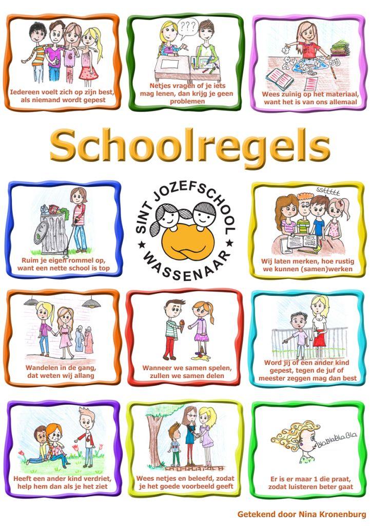 regels voor in de school