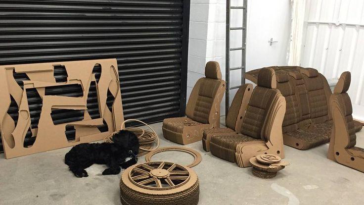 Lexus cardboard car 12