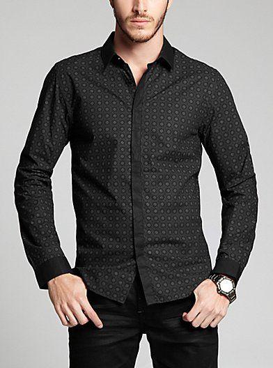 Dean Long-Sleeve Shirt | GUESS.com