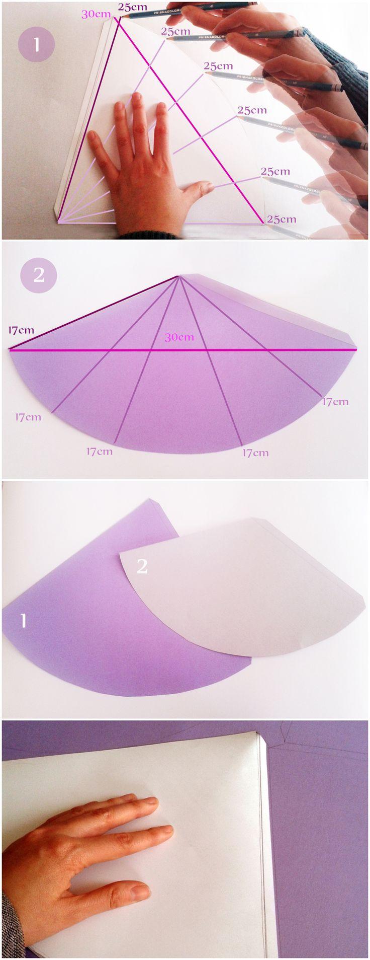 Aquí compartimos las medidas del molde para hacer el gorro de princesa y un gorrito de fiesta