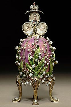 The Lilies of the Valley Egg 1898- Presented to Alexandra Feodorovna