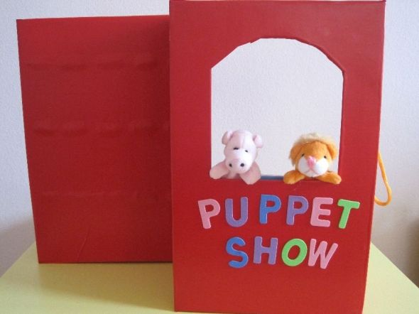 Shoe box puppet theater, genius idea!!