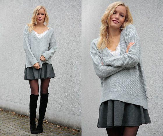 Pimpkie Skirt, Zara Boots