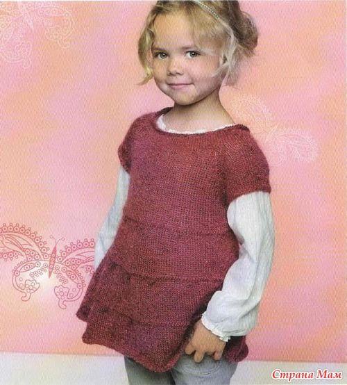 Туника-платье для девочки