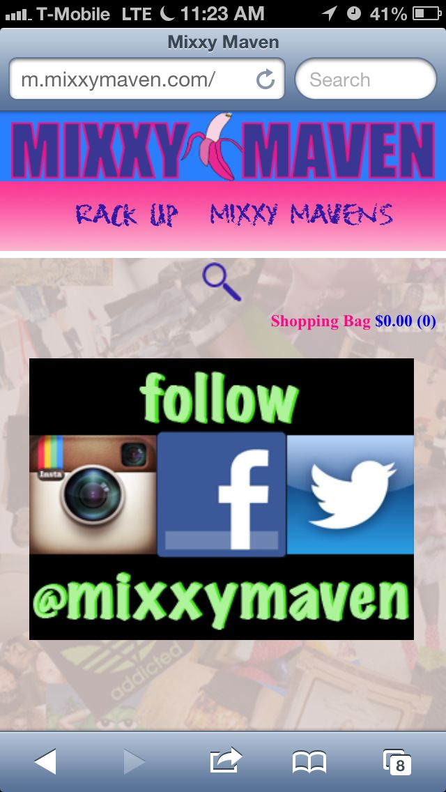 Check out the mobile site for mixxymaven.com