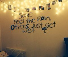 Some feel the rain, others just get wet ☂
