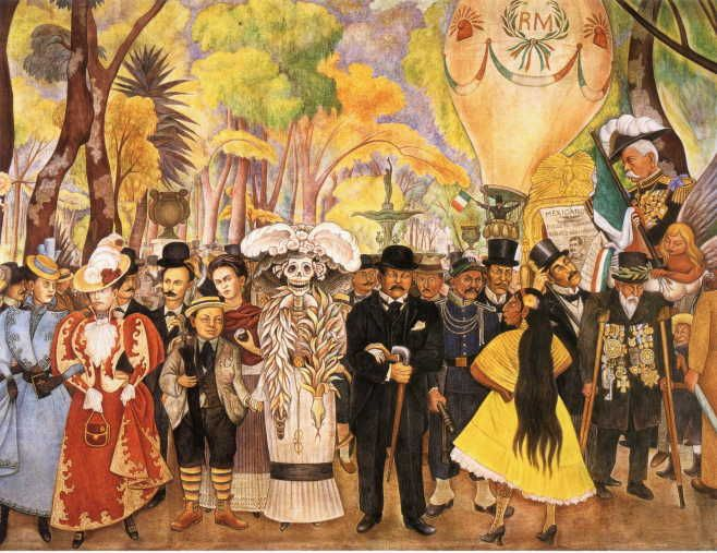 """Dream of Sunday Afternoon in Alameda Park"" by Diego Rivera"