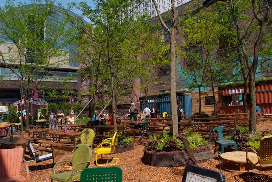 Grid - Toward A Sustainable Philadelphia - Home - Pop Top: Partnership transforms vacant lot into Pop Up Beer Garden . A pop up garden transformed by the Pennsylvania Horticultural Society