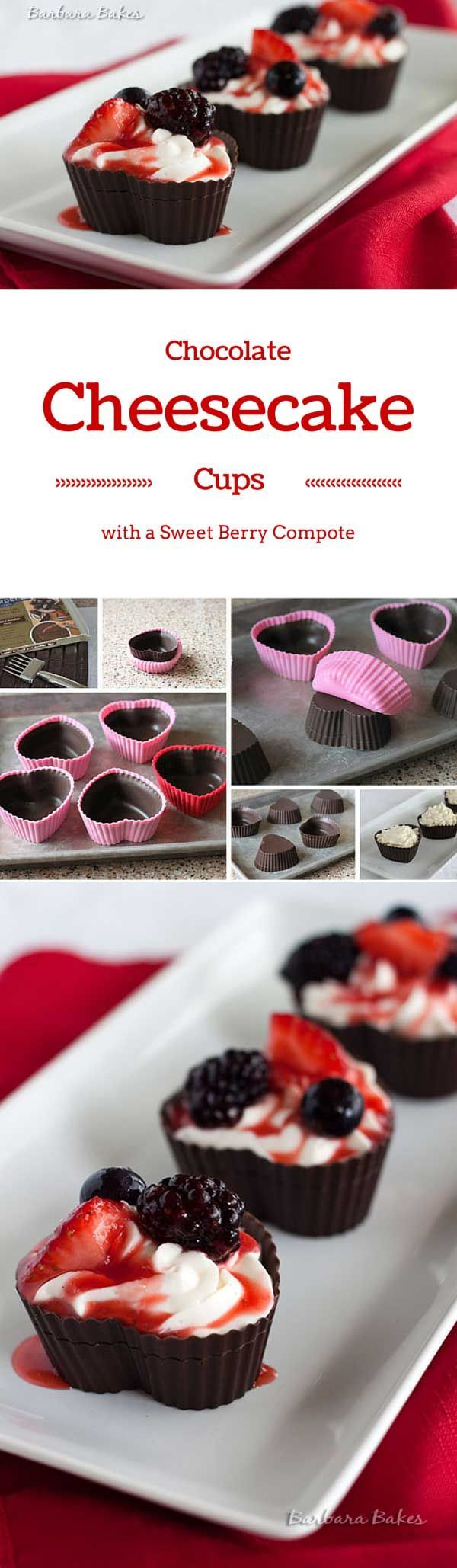 A semi-sweet, heart-shaped chocolate bowl filled with a creamy vanilla bean…
