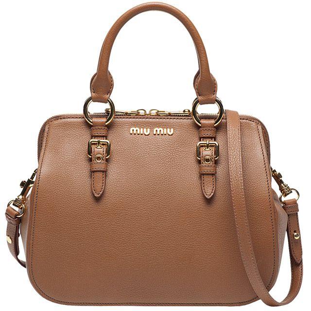 Bolsa de couro, Miu Miu. Foto: DIVULGAÇÃO