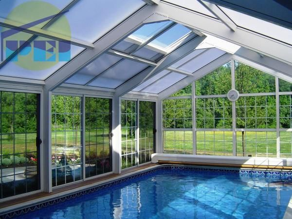this inside pool as an option. This would probably be my smartest option if I want a pool. Then in wintertime I could go swimming as well.