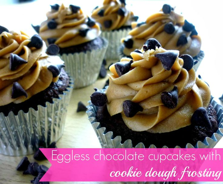 My sugar coated life...: Eggless chocolate cupcake recipe with cookie dough frosting. An amazing eggless treat from cake to frosting!