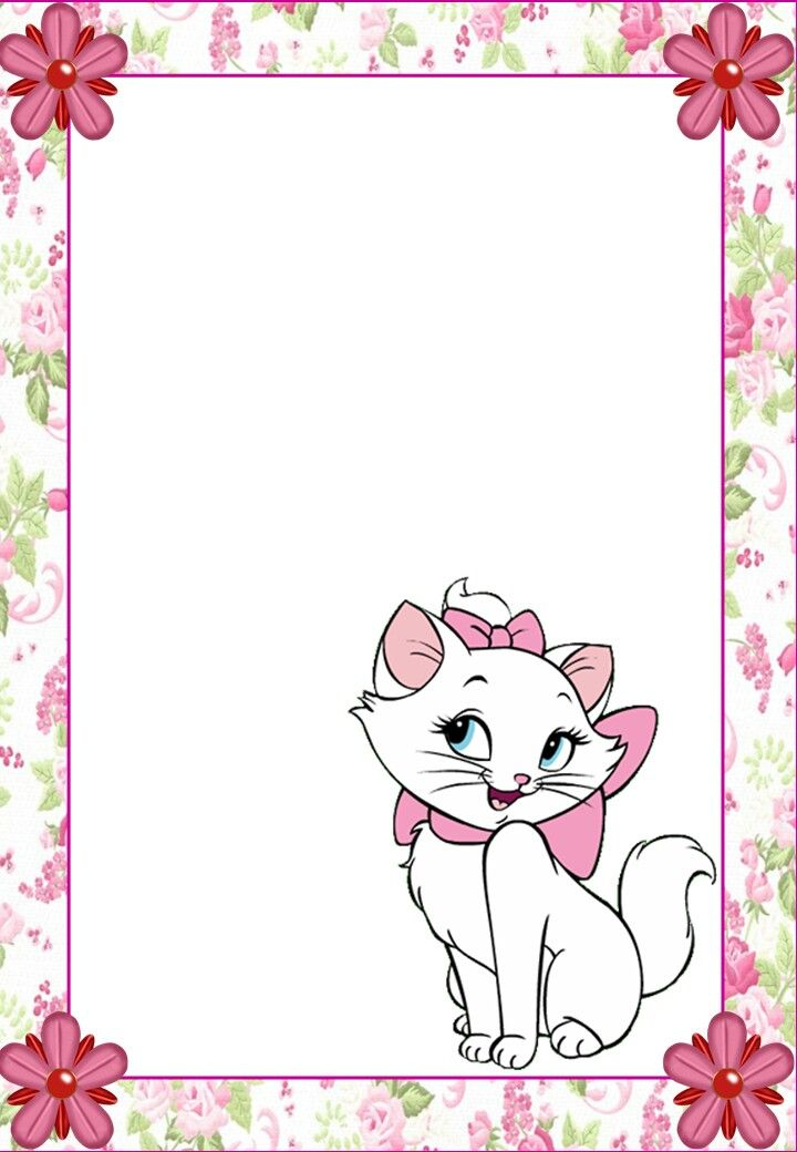 Stationary | Notepaper | Kitty | Printable | Stationary | WallPaper | Marie
