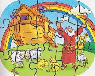 untuk anakanak sekolah minggu: PUZZLE dng gambar Nuh.