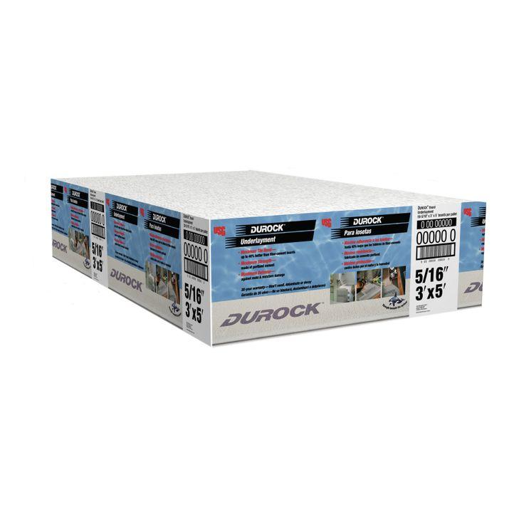 Durock brand 03125in x 36in x 60in cement backer board