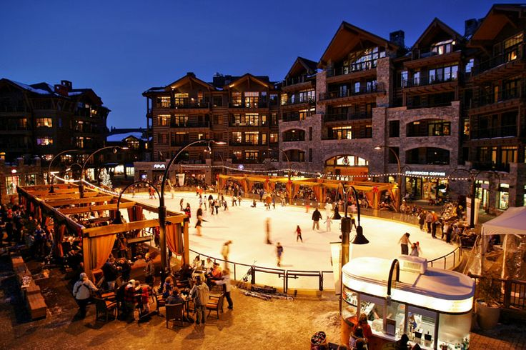 Northstar at Tahoe. Great place to visit in the winter AND summer. Bring your own supplies for s'mores, enjoy the euro treats around the rink and don't forget to take a Highlands gondola ride to The Ritz Carlton to look at stars - it's free!
