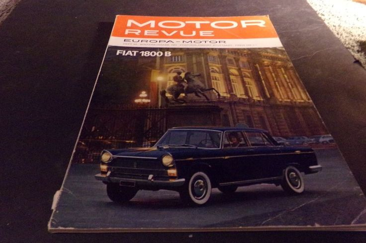 Vintage Motor Revue Fiat Sportswagon MONZA Grand Prix Italy American Motor 1961