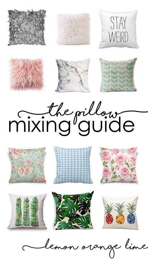 Learn how to create nice interior on a budget! http://lemonorangelime.com/decorating/how-to-mix-and-match-pillows/