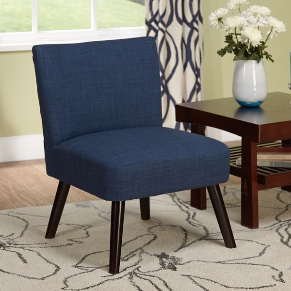 Navy Blue And White Accent Chair