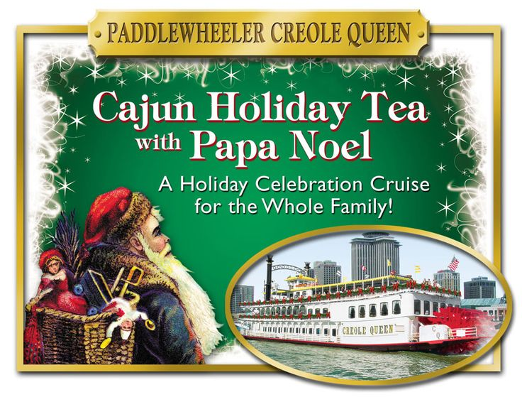 Enjoy a festive family holiday cruise aboard the Paddlewheeler  Creole Queen for three days this December! #NOLA