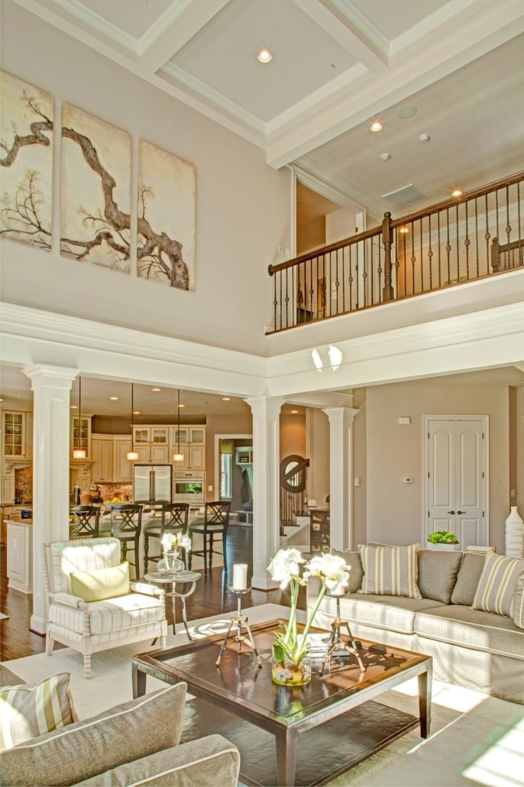 81 best images about 2 story great room ideas on pinterest for Two story living room house plans