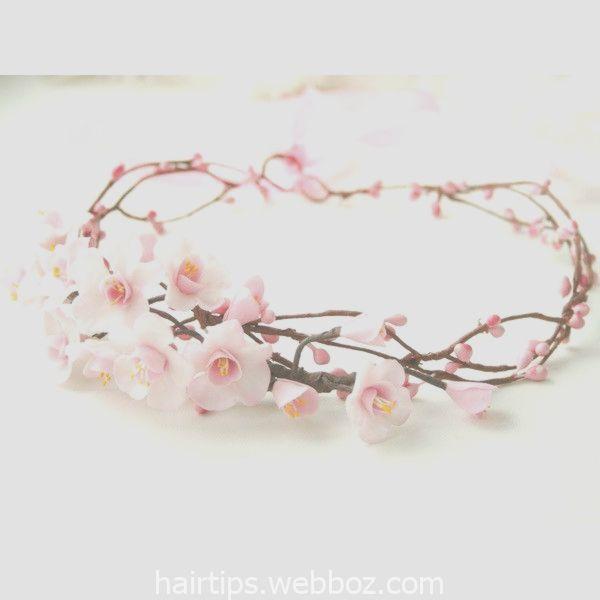 Cherry Blossom Crown Bridal Flower Crown Wedding Flower Crown Pink 70 Cherry Blossom Wedding Accessories Flower Crown Wedding Cherry Blossom Crown