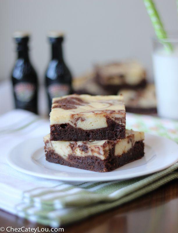Irish Cream Cheesecake Brownies | chezcateylou.com