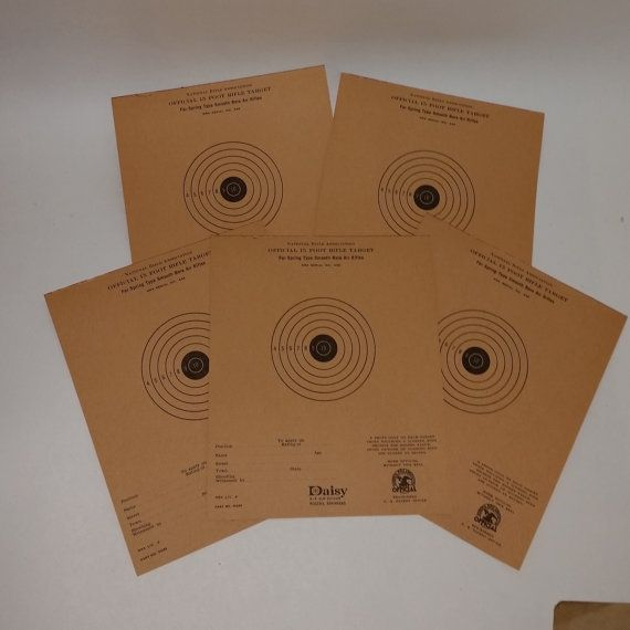 Vintage paper supplies lot 5 daisy rifle bulls eye by cipmunk