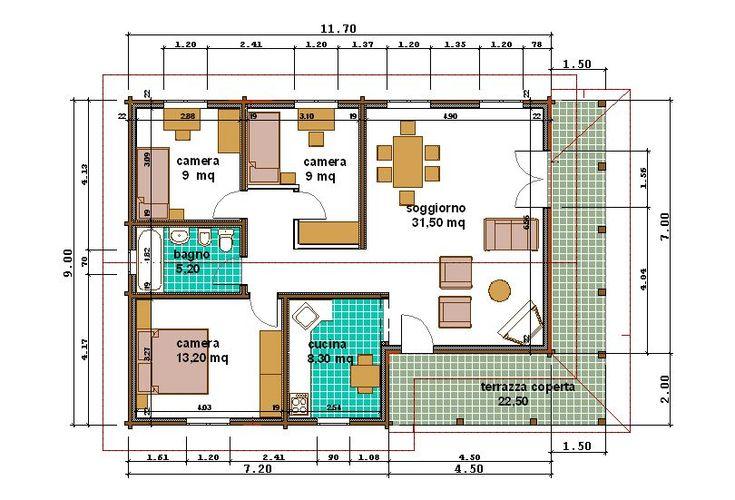Piantina casa 100 mq case unifamiliari nel 2019 for Idee planimetria casa