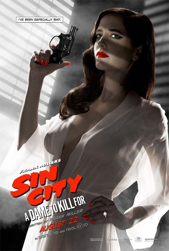 Banned Eva Green Poster for 'Sin City: A Dame To Kill For'