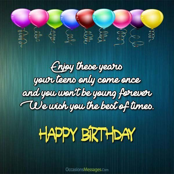 Https Www Occasionsmessages Com Birthday Birthday Wishes Quotes For Teenagers Birthday Boy Quotes Happy Birthday Wishes Quotes Birthday Wishes Quotes