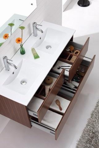 Madero - Double Basin Wall Hung Veneer Vanity Modern Bathroom Furniture By Nova…