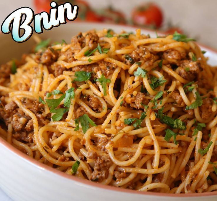 Spaghetti bolognese Full Recipe: youtube.com/bninteam  #spaghetti #spaghettibolognese #italianfood #moroccanfood #traditionalfood #cheese #parmesan #tomato #beef #groundbeef