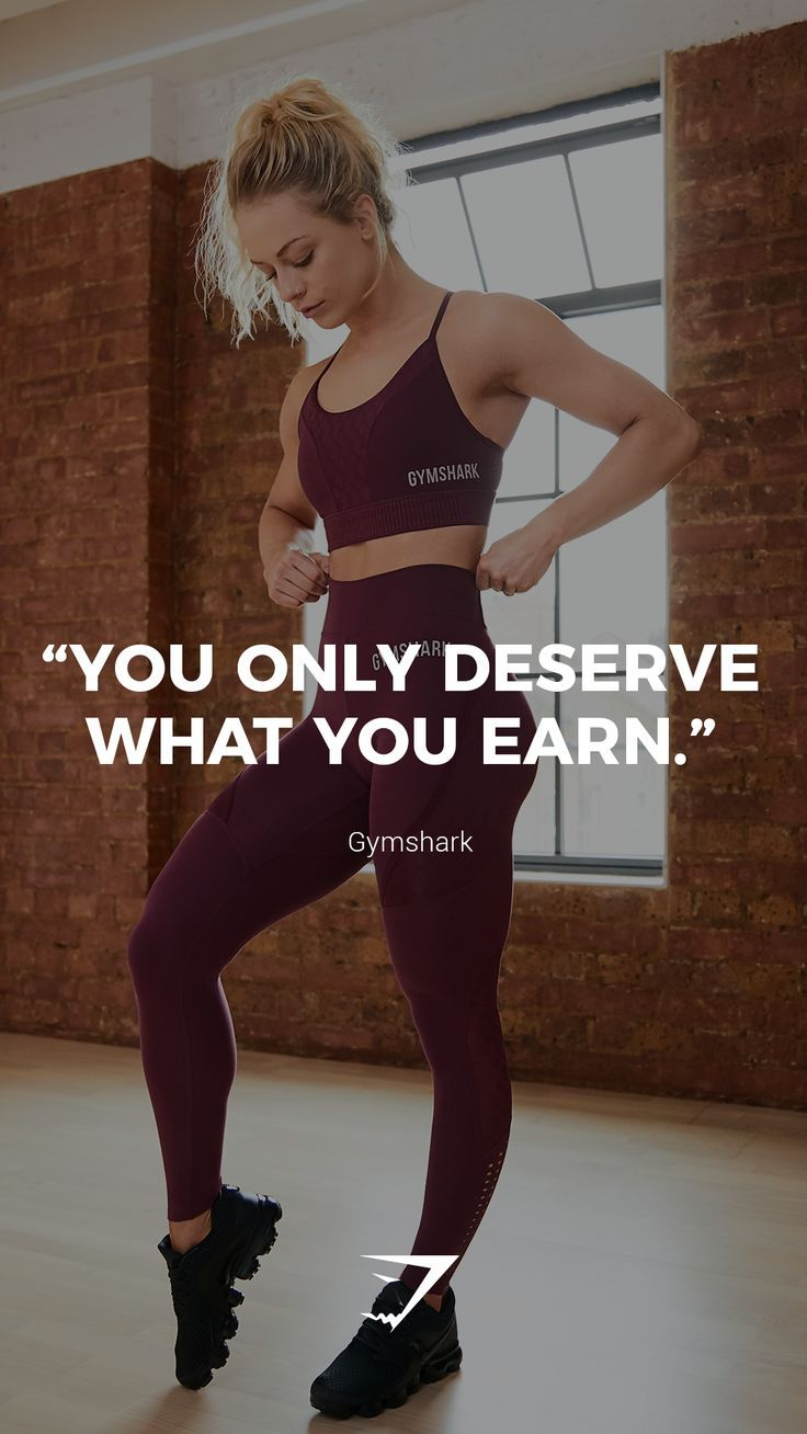 """You only deserve what you earn."" – Gymshark. #Gymshark #Quotes #Motivational …"