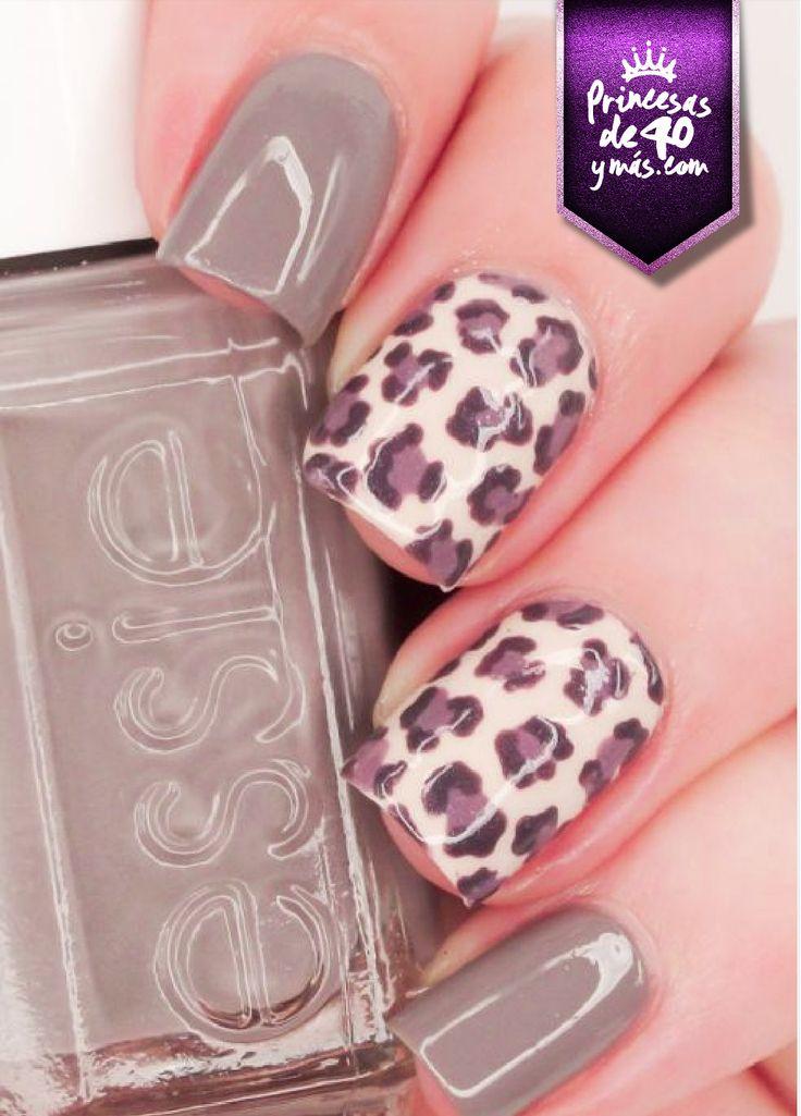 Me gusta el animal print en las uñas. #nails #style #wow #loveit #PrincesasDe40