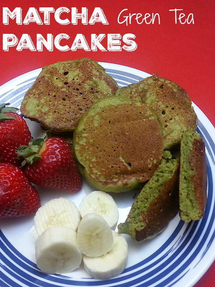 Easy Matcha Green Tea Pancakes