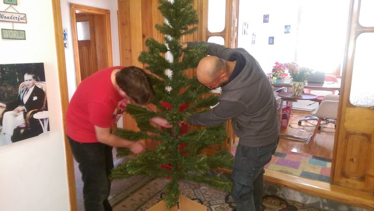 Assembling our first Xmas Tree :)