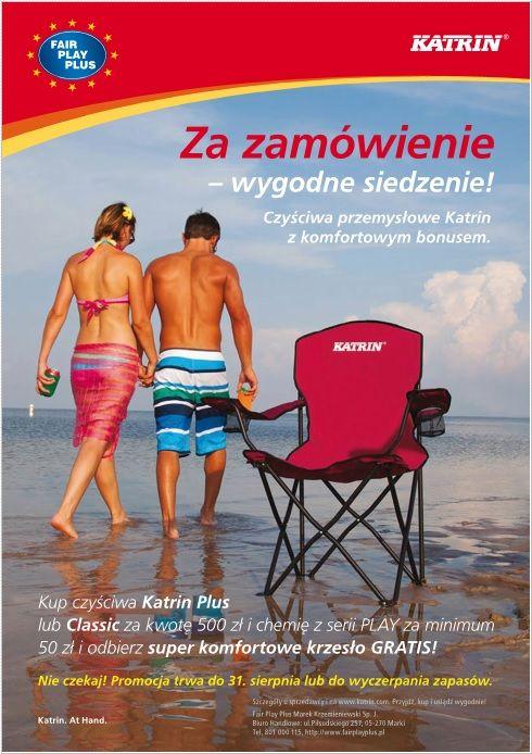 Firma Fair Play Plus wraz z Katrin producentem art.higienicznych , takich jak papiery toaletowe , ręczniki papierowe czy czyściwa przemysłowe, przygotowała super promocję. Zapraszamy do przeczytania ulotki.  www.fairplayplus.pl