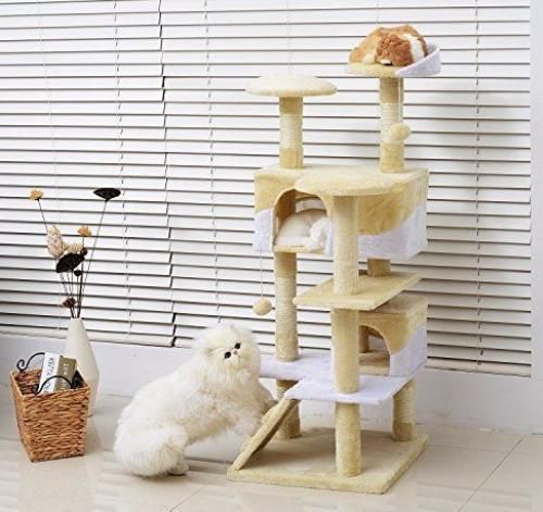 Cat Activity Centre Tree Post Scratching Toy Kitten Climbing Fun Bed House Uk #CatActivityCentre