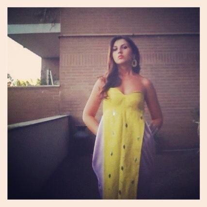 Me wearing Aurora Potenti, Chiara Dress, dress  named after me