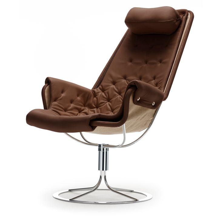Jetson lænestol Classic Soft læder, brun i gruppen Rum / Stue / Stuemøbler hos ROOM21.dk (106787)