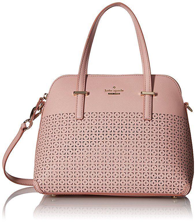 kate spade new york Cedar Street Perforated Maise Satchel Bag, Pink Bonnet, One Size
