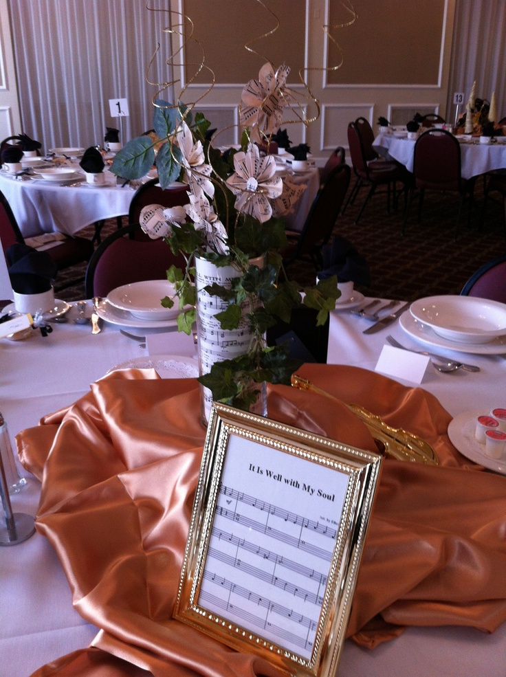 Themed tablescape at the fall 2012 women s auxiliary luncheon church