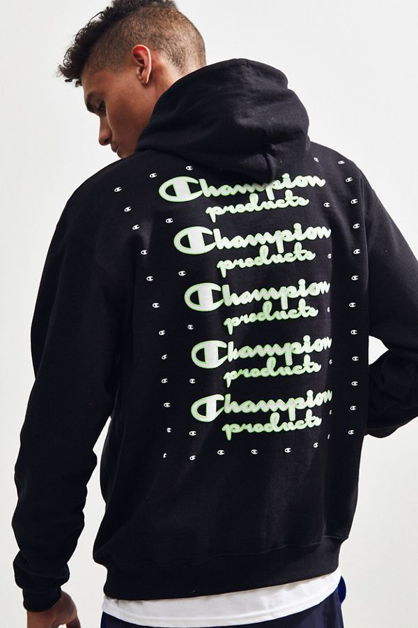 1a05a3c95ca0 Slide View  4  Champion UO Exclusive Neon Stacked Hoodie Sweatshirt