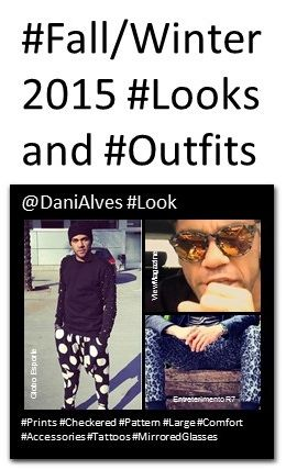 Dani Alves: #Prints #Checkered #Pattern #Large #Comfort #Accessories #Tattoos #MirroredGlasses