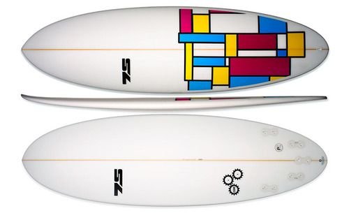 Surfs up! Colorful 7S surfboard. #surfboard #curl #7S #summerfun #surfing