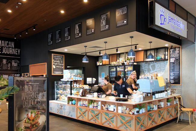 JAMAICA BLUE | #Cafe #Restaurant #Shop #Fit #Out #Mesh #Tiles #Powder #Coat #Framework #Chalkboards #Rustic #Industrial