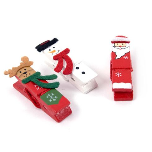 Manualidades Navidad con pinzas de ropa para niños: